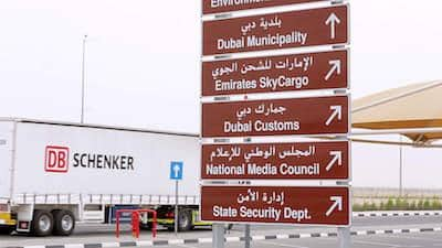 dubai warehouse lkw sign