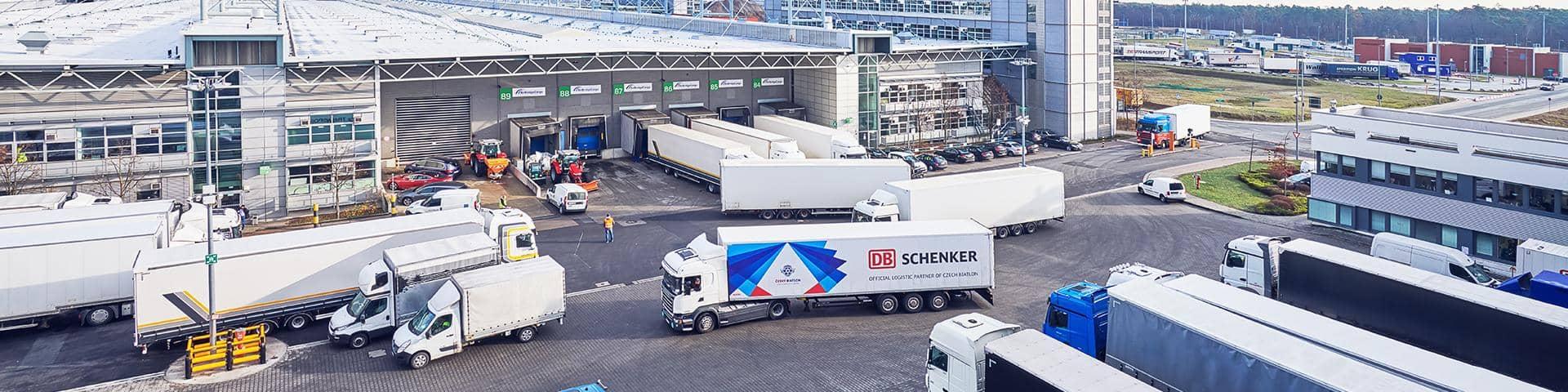 DB Schenker Warehouse Truck parking