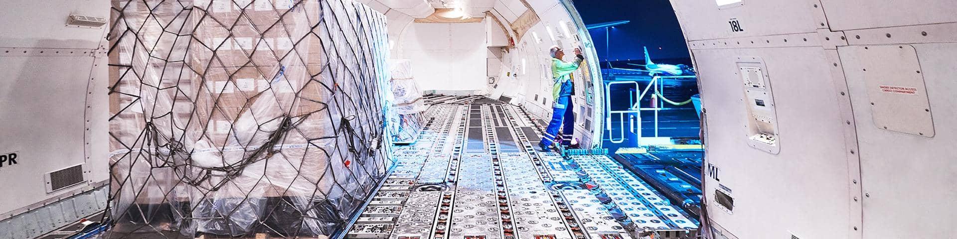 DB Schenker Air Freight Charter Services Airplane Inside