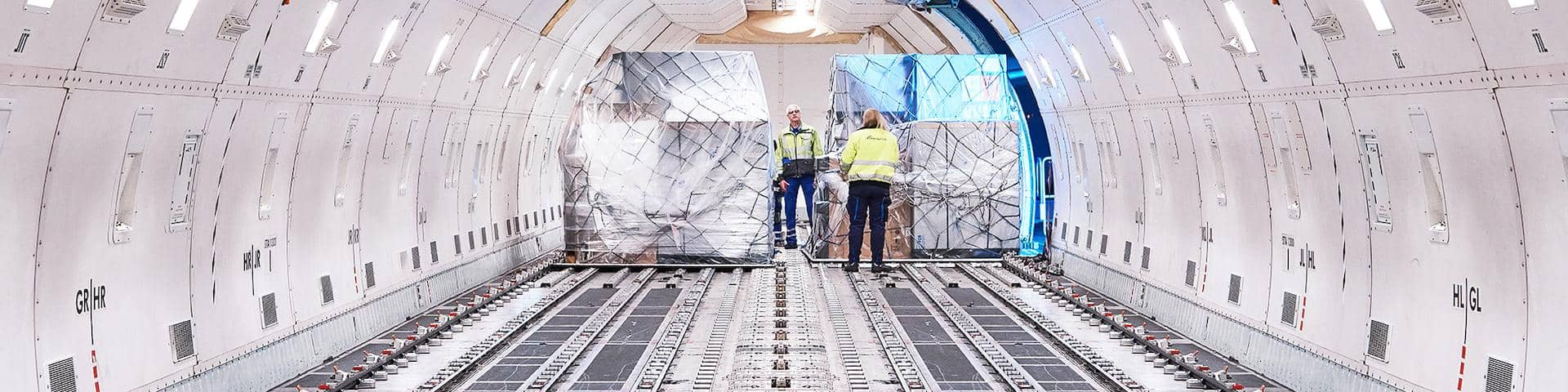 DB Schenker Air Freight Flightoperations Airplane Inside Loading
