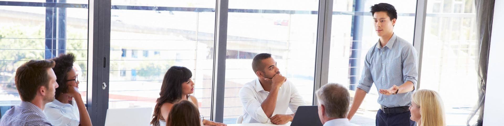 People Meeting Office
